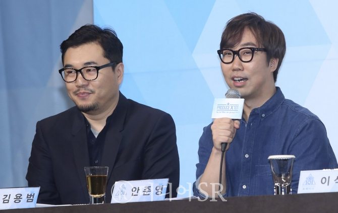 Mnet 김용범 전략콘텐츠사업부장, Mnet '프로듀스X101'의 연출을 맡은 안준영 PD / 사진=구혜정 기자