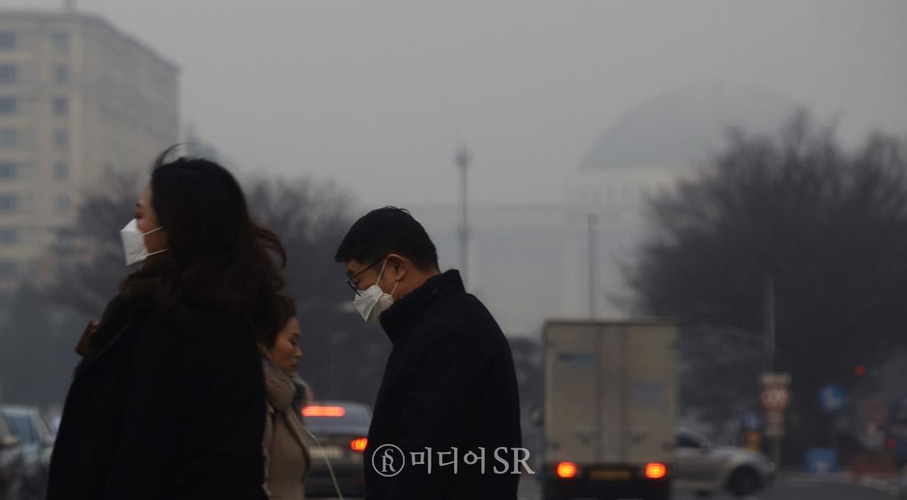미세먼지 '매우 나쁨' 사진. 구혜정 기자